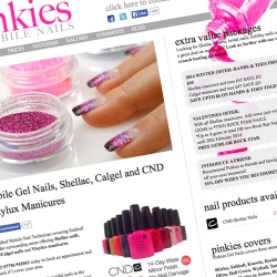 Pinkies Mobile Nails - Jemford Web Design Solihull