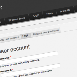 Secure login options for potential buyers and vistors