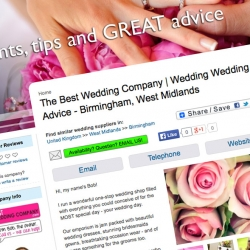 White Wedding Pages company directory by Jemford Design
